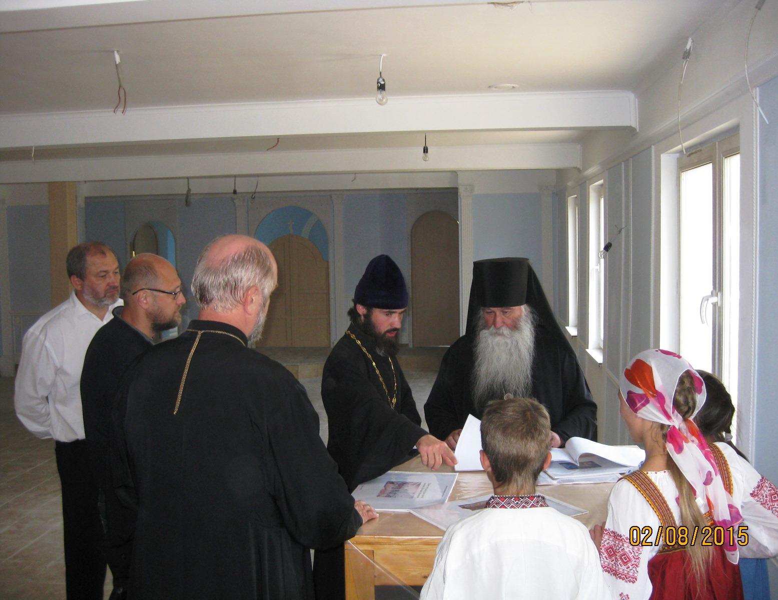 Показ хода работы Владыке Феофилакту