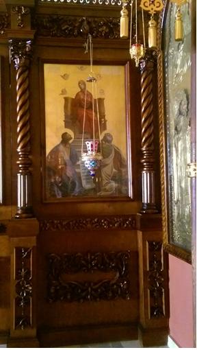 Икона Похвала Божией Матери в одноименном приделе Покровского храма.