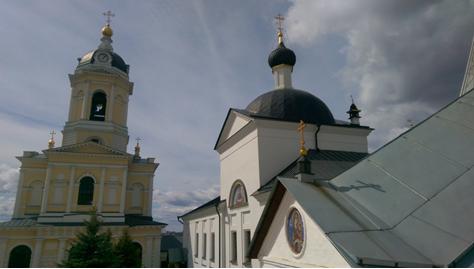 Серпуховской Высоцкий мужской монастырь сверху